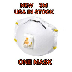 3m 8511 N95 Particulate Respirator W exhalation Valve Mask 1 Pc Only Usa Stock
