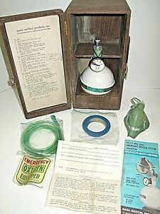 Vintage Mada Medical Emergency Oxygen Madasphere Complete W Box