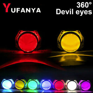 360 Led Devil Demon Eyes Smd Halo Ring For Car Headlight 3 0 2 5 Projector Lens