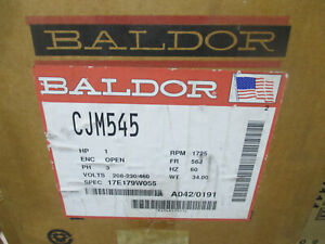 Baldor 3 Phase Electric Motor Cjm545 1 Hp 56j Frame
