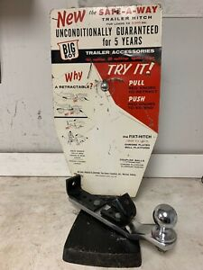 Rare Big Boy Safe a way Trailer Hitch Accessory Dealer Counter Display Antique
