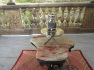 H Hooijkaas Sterling Silver Miniature Table And Coffee Mill 835 925 Holland H