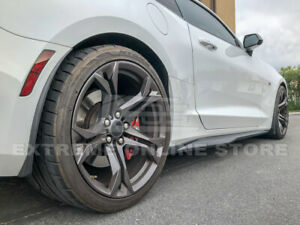 Gm Extended Texture Black Front Rear Splash Guards Mud Flaps For 16 Up Camaro
