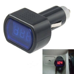 12v 24v Led Display Cigarette Lighter Electric Voltage Meter Tester For Auto Car