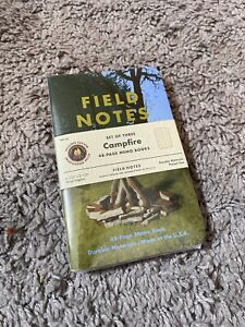 Field Notes Campfire Memo Books Set Of 3 Limited Edition Sold Out Free Shipping