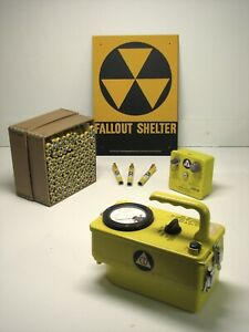 Cdv 717 Geiger Counter Kit With New Dosimeters Charger And Shelter Sign