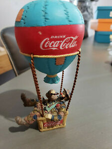 Coca-Cola Emmett Kelly Hobo Clown in Hot Air Ballon Figurine 1994