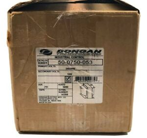 Dongan 50 0750 053 Transformer 240x480 Primary Volts 120 Secondary Volts