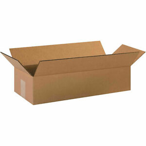 20 X 8 X 4 Cardboard Long Corrugated Box 65 Lbs Capacity 200 ect 32 Kraft