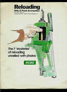 RCBS Rock Chucker Ammunition Reloading Press Pictorial Step By Step Brochure $29.99