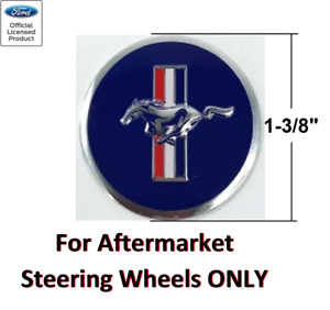 Ford Mustang Tri bar Pony Steering Wheel Horn Button Insert Decal 1 3 8
