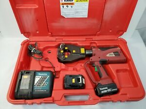 Burndy Pat81kftli Hydraulic Battery Operated Dieless Cordless Crimper Tool