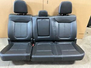 2014 Ford F 150 F150 Lariat Rear Leather Black In Color Split 60 40 Bench Seats