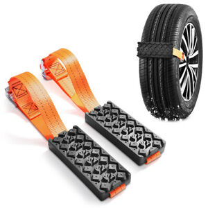 2pc Car Tire Anti skid Chain Traction Block Suv Sedan Snow Mud Sand Traction Mat