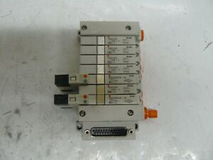 Smc Vvq1000 10a 1 And 2 Smc Vq1201y 5 Solenoid Valves With Manifold Block
