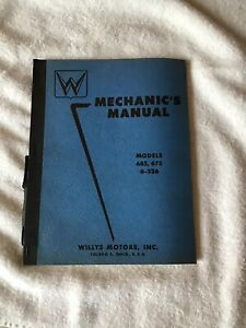 Willys Mechanics Manual Models 685 675 6 226 1955