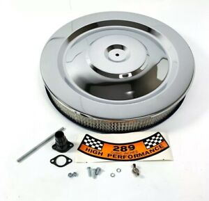 Chrome Hipo Air Cleaner Assembly 5 1 8 Neck W 289 Decal For Ford