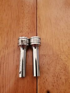 Snap On 3 8 Drive 1 4 6 12pt Deep Chrome Sockets Lot Of 2