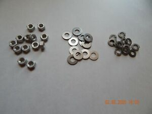 Aluminum Hex Nuts Flat Washers And Lock Washers 5 16 12 Each New