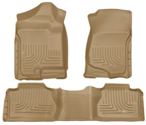 Husky Liners Weatherbeater Floor Mats Tan For 2007 13 Chevy Silverado Extended