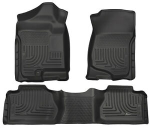 Husky Liners Weatherbeater Floor Mats Black For 07 13 Chevy Silverado Extended