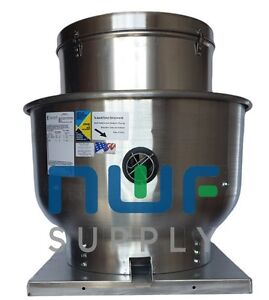 Restaurant Upblast Commercial Hood Exhaust Fan 30x30 Base 1 3 Hp 3229 Cfm