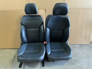 2013 Mercedes Ml Ml350 Front Black Heated Bucket Seats W Power