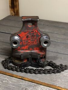 Vintage Ridgid Bc4a 1 8 4 Bottom Screw Bench Chain Pipe Vise Bc 4a