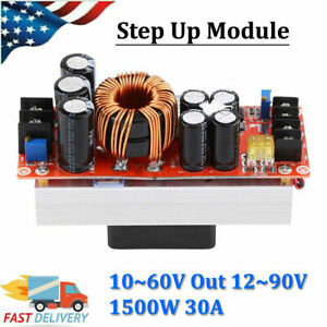 1500w Dc dc Boost Converter 10 60v To 12 90v Step Up Power Supply Module