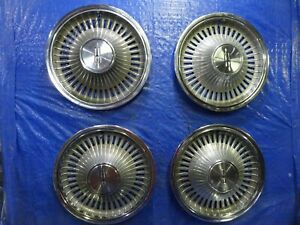 1972 1973 Oldsmobile Cutlass Supreme 14 Wheel Covers Hubcaps Set Of 4