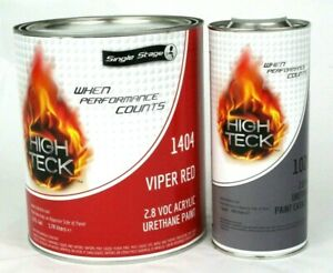 Viper Red Gallon Kit Single Stage Urethane Paint Hardener 2 8 Voc High Teck
