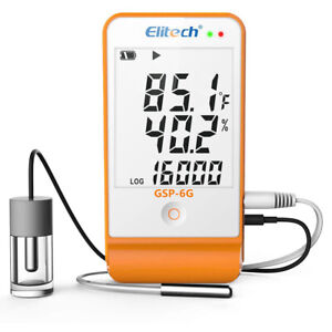 Elitech Gsp 6g Temperature And Humidity Data Logger Recorder With Glycol Bottle