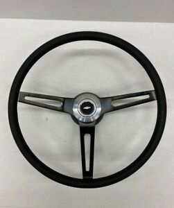 1969 1970 1971 1972 Chevelle Comfort Grip Black Steering Wheel Kit Black Spokes
