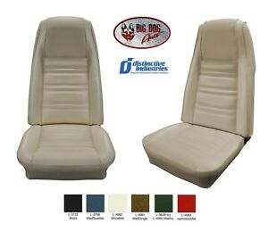 Front Bucket Seat Upholstery Covers 1970 Mustang Standard By Distinctive Ind