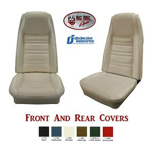 Front Rear Seat Upholstery Covers 1970 Mustang Standard By Distinctive Ind