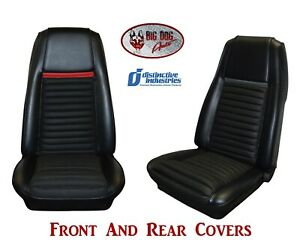 Front Rear Seat Upholstery Covers 1970 Mustang Mach 1 By Distinctive Ind
