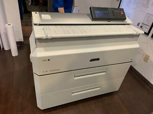 Oki Wide Format Plotter Color Scanner Copy Lp 2050 Low Meter Free Shipping In Us