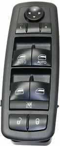 Power Window Switch Front Driver Left Side Black For Town And Country Lh Hand