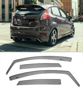For 11 19 Ford Fiesta Hatchback In channel Style Visors Side Rain Deflectors New