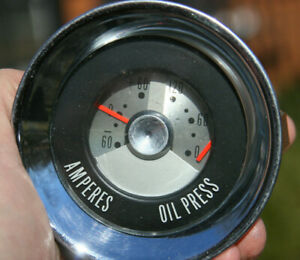 Chris Craft Boat Marine Vintage Oil Pressure Amp Gauge Cluster
