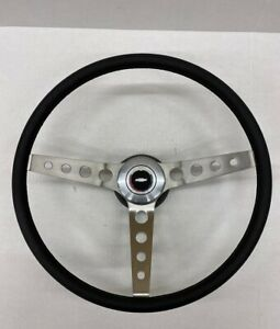 1969 1970 1971 1972 Chevelle Comfort Grip Steering Wheel Kit Black Round Holes