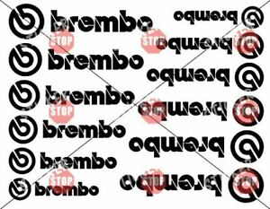 12 Brembo Decal Sticker Vinyl Caliper Brake Heat Resistant 6 Sizes Multi Colors
