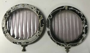 1920 S Vintage Cadillac Bausch Lomb Headlight Lens And Bezels