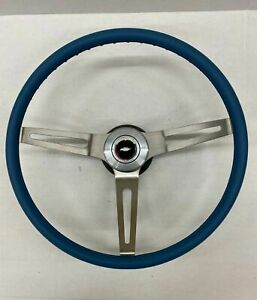 1969 1970 1971 1972 1973 1974 1975 Chevelle Comfort Grip Steering Wheel Kit Blue