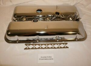 Chrome Oem Valve Covers W Corner Recess For Vette 396 427 454 Big Block Chevy