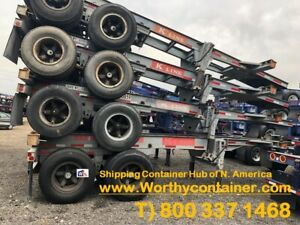20 Chassis 20ft Shipping Container Chassis For Sale As Is Repairable