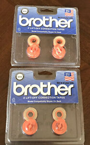 Brother Lift off Correction Tapes 0 281 X 21 4 New 3010 Lot Of 2 Packs