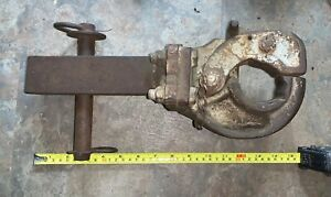 Vintage Pintle Hook Hitch Heavy Duty Iron Heavy Equipment Farm Tractor Trailer