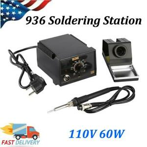 110v 60w 936 Soldering Station Solder Iron Welding Kit Adjustable Temperature