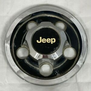 Jeep Cherokee Comanche Wagoneer 15 Wheel Center Hub Cap Black And Chrome